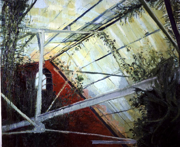 The Ravine 2, oil on canvas, Simon McWilliams