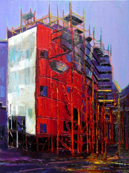 Titanic Quarter Building, oil on canvas, 32 x 24 ins