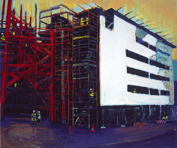 Titanic Quarter Under Construction, oil on canvas, Simon McWilliams