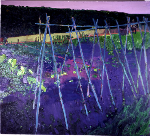 Bamboo Canes, oil on canvas, Simon McWilliams