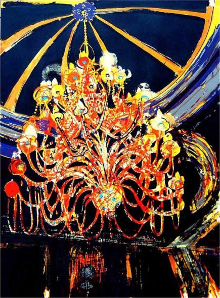 Chandelier, Screen print, edition of 20