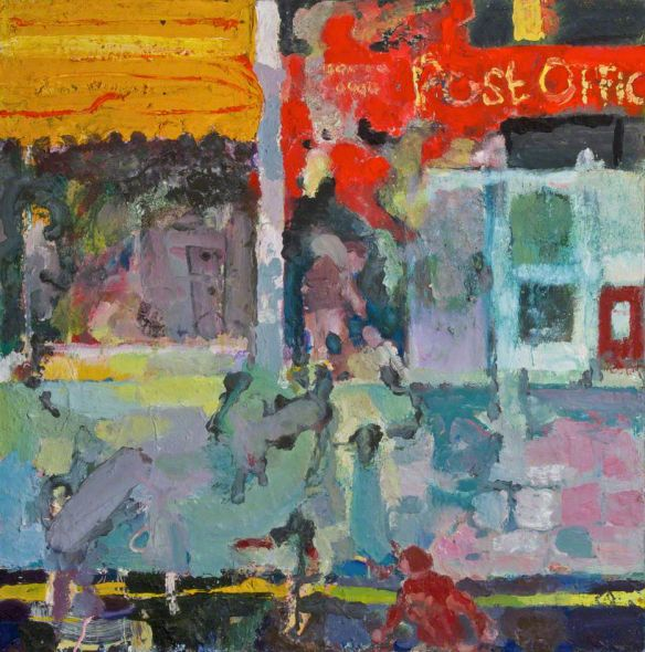 Donegall Street Post Office, oil on canvas
