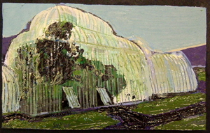 Glasnevin Palmhouse Small oil on paper on board