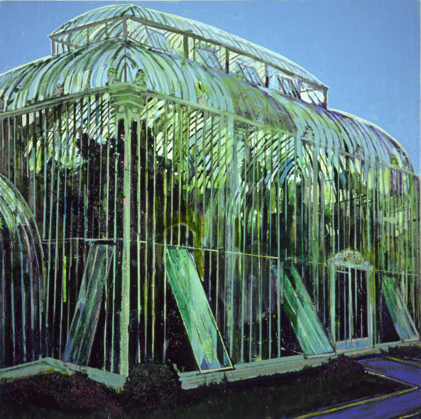 Glasnevin Palmhouse, oil on canvas, Simon McWilliams