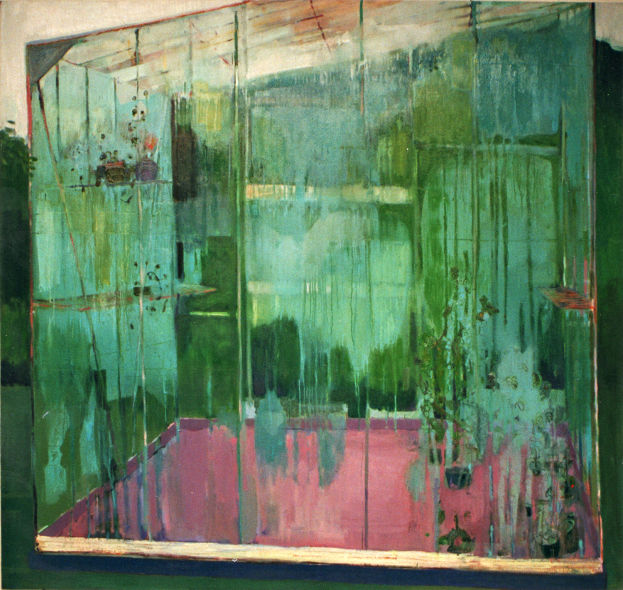 Greenhouse Condensation , oil on canvas, Simon McWilliams