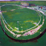 Greyhound Track, oil on canvas, AIB Collection