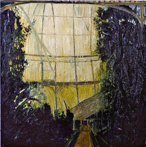 inside the Palm House, oil on canvas