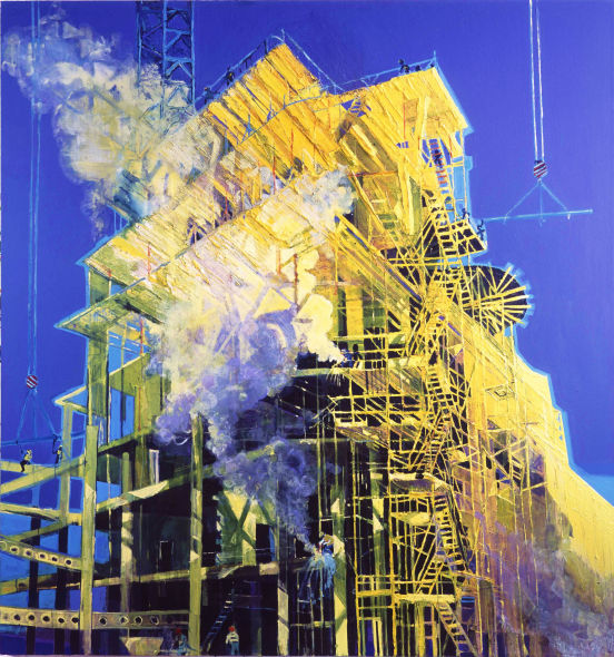 M-Machine Number 2 oil on linen, 72 x 60inches