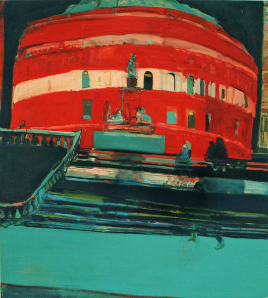 Royal Albert Hall, oil on canvas, Simon McWilliams