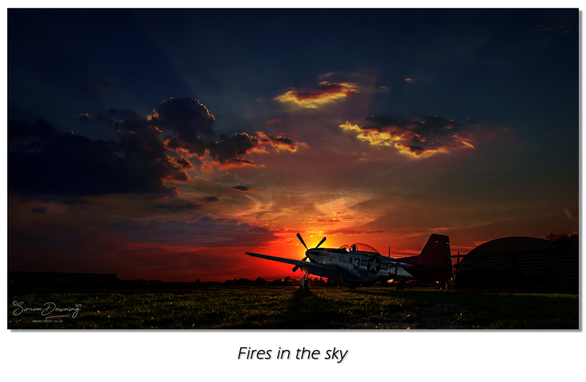 Fires in the sky