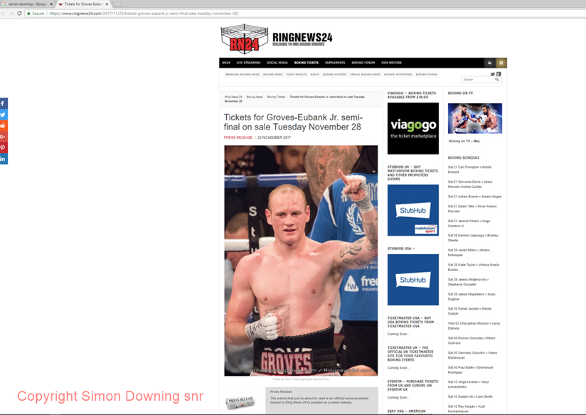 George Groves in Ringnews24