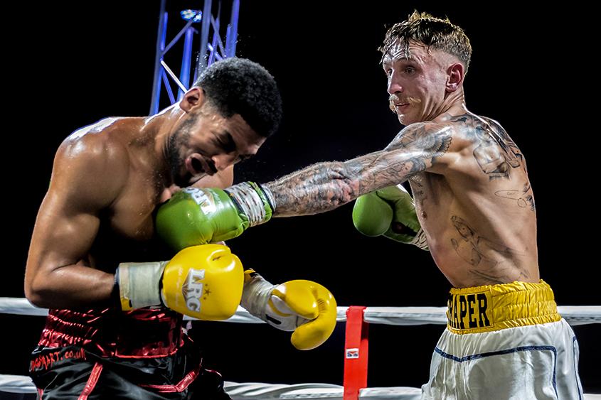 Kyle Paevie vs Joe Draper EBA British Light Middleweight title
