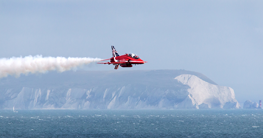 Red Arrow near Isle of White