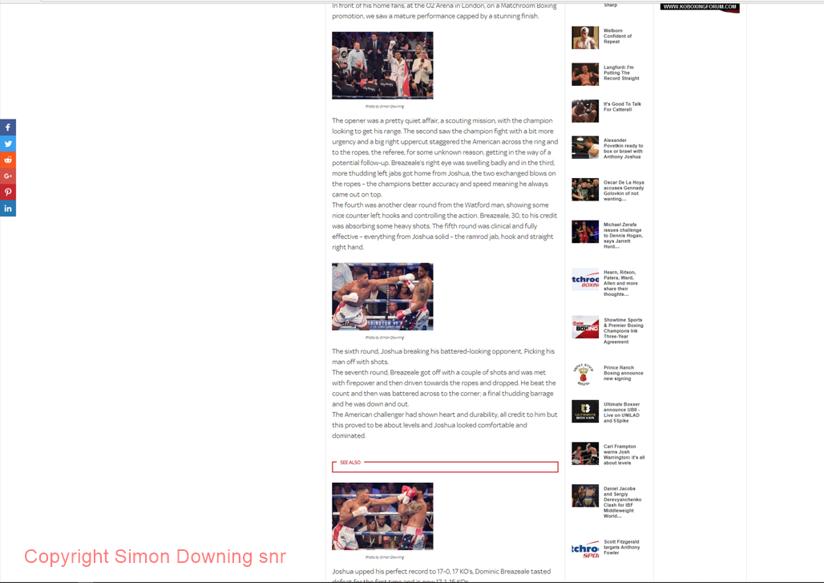 Anthony Joshua vs Dominic Breazeale in Ringnews24