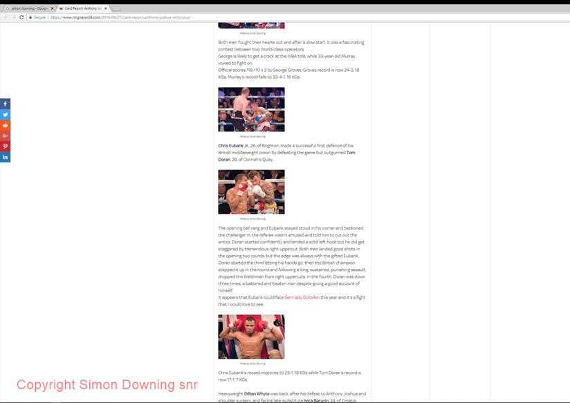 Chris Eubank Jr vs Tom Doran in Ringnews24
