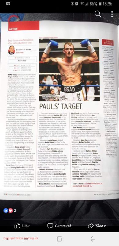 Brad Pauls in Boxing News