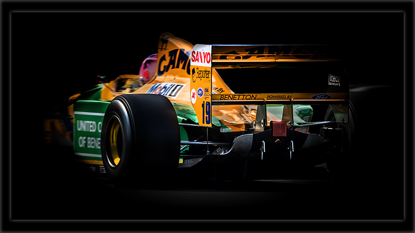 Rear of Historic F1
