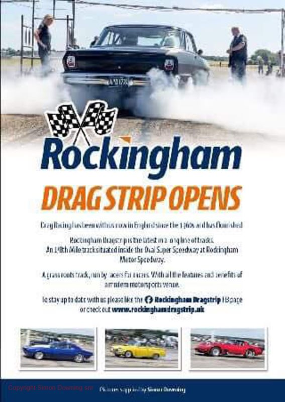 Rockingham Dragstrip flyers and posters