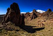 North from Los Roques de Garcia trail
