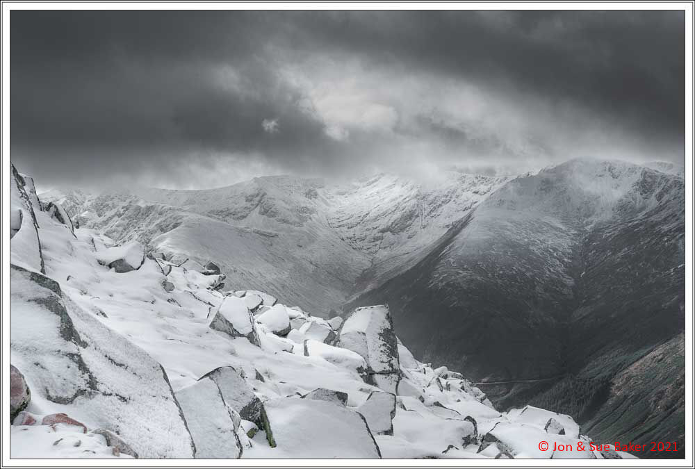 Looking across to The Mamores.
