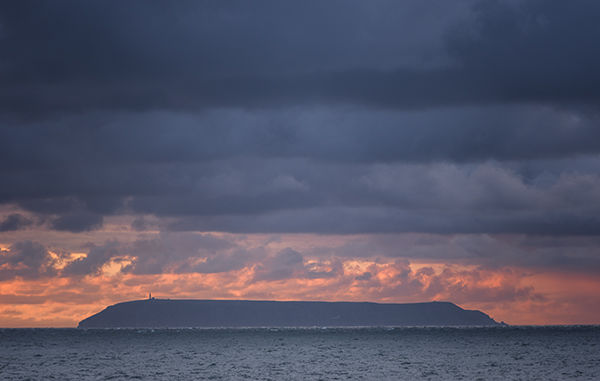Lundy Island at Sunset
