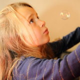 the bubble girl