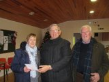 Margaret Bolton & Peter Woods with Owen Morrissey-Murphy prize winners in the Golden Doubles competition.
