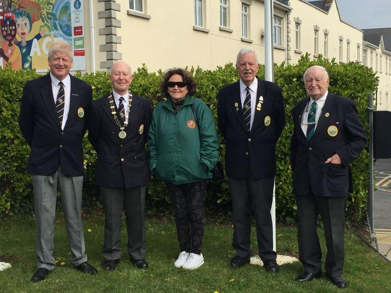 Mark O'Leary, Leslie Swarbrigg, Liz Kenny, Kieran Birchall and Eddie Jackson
