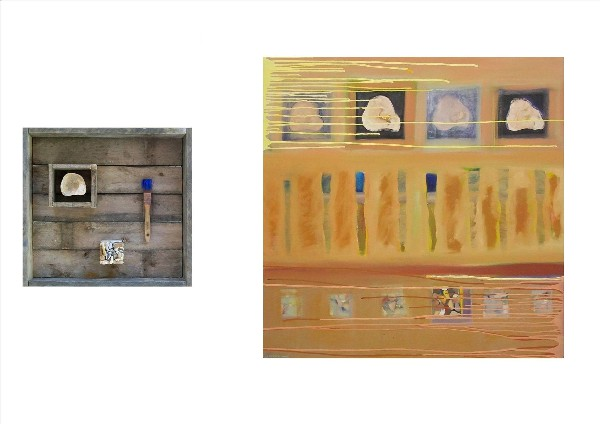 SEA WORKS-SEA ON A BRUSH (diptych) 2009-10
