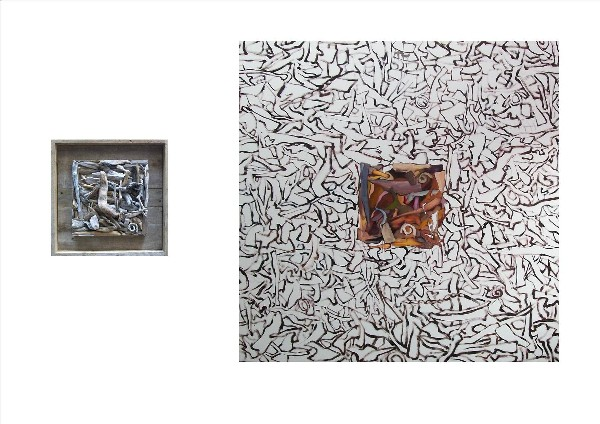 SEA WORKS-WOOD TRANSFORMATION (diptych) 2009