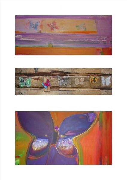 SEVEN BUTTERFLIES (triptych) 2009