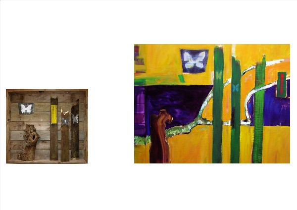 WHITE BUTTERFLY (diptych)  2008-09