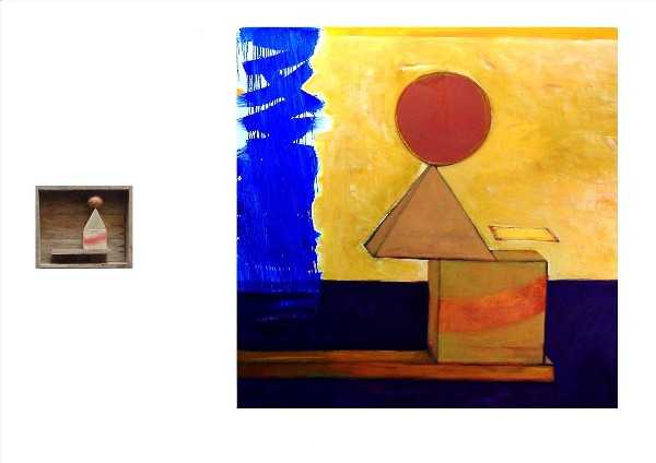 SPHERE, CUBE, PYRAMID (diptych) 2009