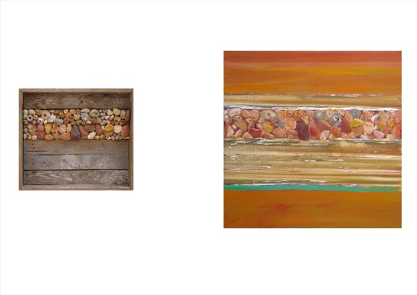 SEA WORKS-PEBBLES (diptych)2009