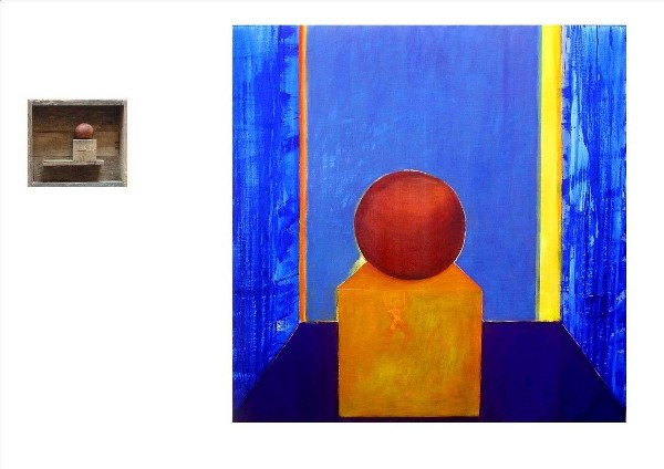 SPHERE and CUBE (diptych) 2009