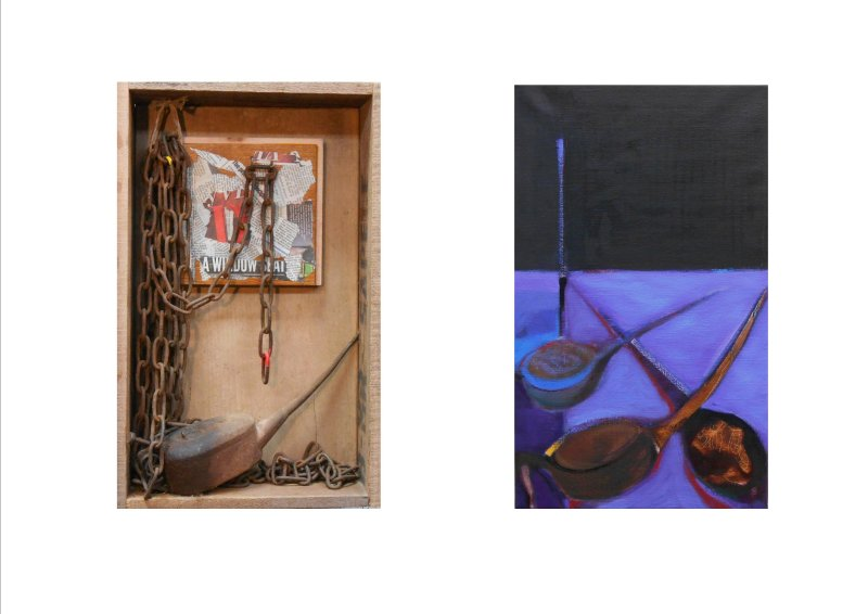 Oil Can and Chains (diptych) 2017