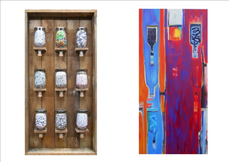POETRY IN A BOTTLE - 9 POEMS (diptych) 2017