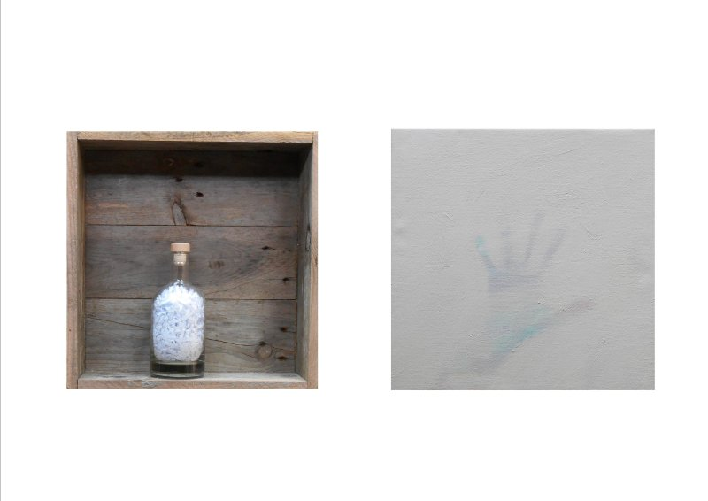 POETRY IN A BOTTLE - WHITE (diptych) 2017