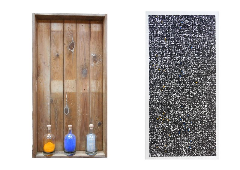 POETRY IN A BOTTLE - I AM (diptych) 2017