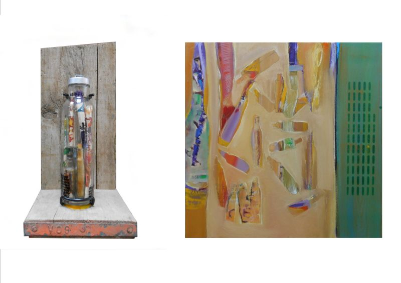 MESSAGES NEVER SEND (diptych) 2013
