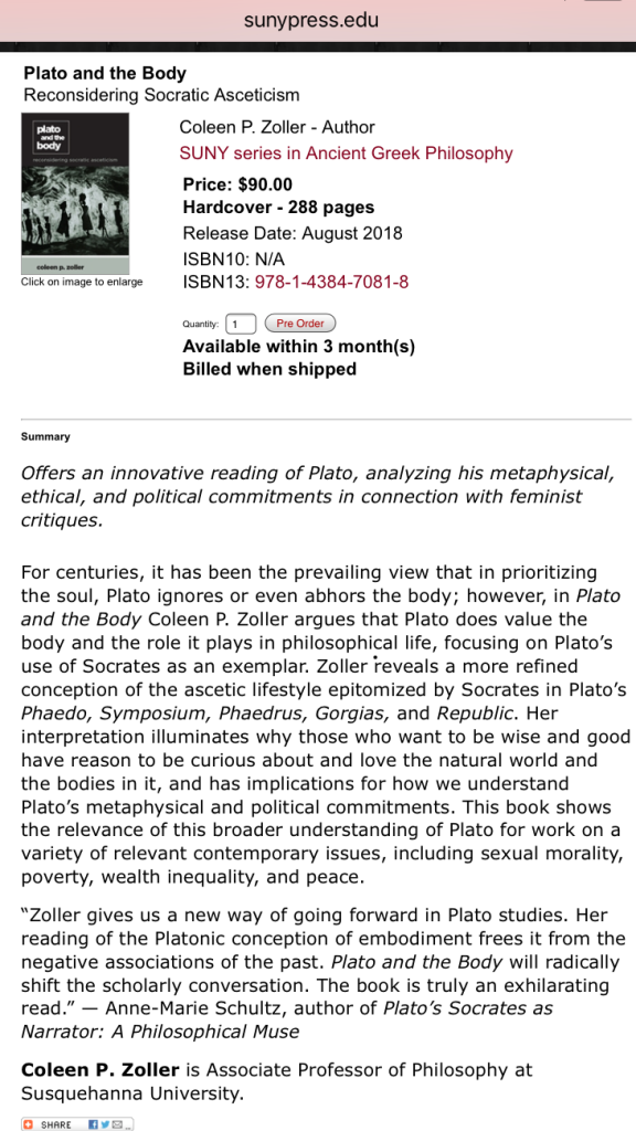 PLATO and the BODY