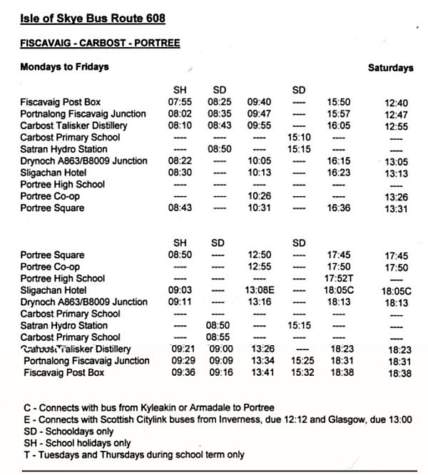 Isle of Skye Bus Routes 608 & 610 (2018): MacDonald Skye