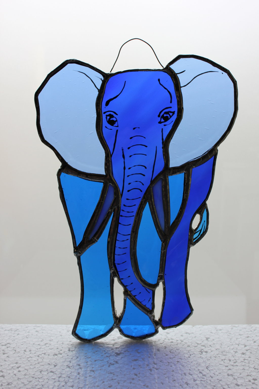 Elephant glass hanging