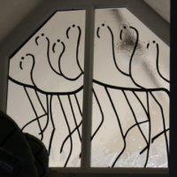 Flamingo window