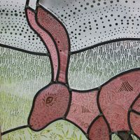 'Freedom' Stained glass panel