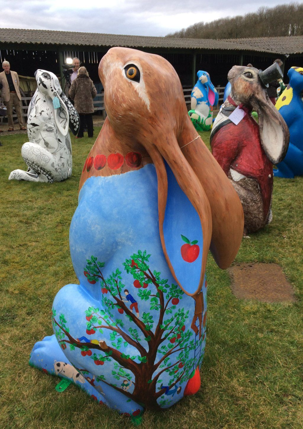 Alfred's Orchard Hare - at the artists' and sponsors' launch March 2018