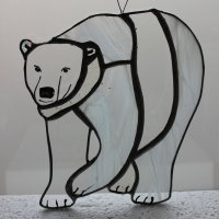 Polar bear glass hanging