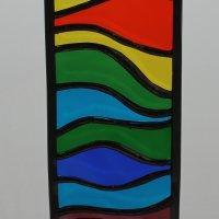 Rectangular glass hanging - copyright Sarah Davis 2015