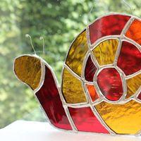 Snail glass hanging