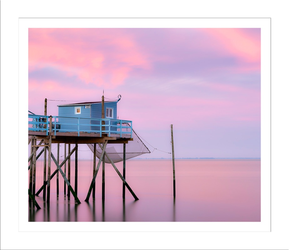 Fishing hut at dawn